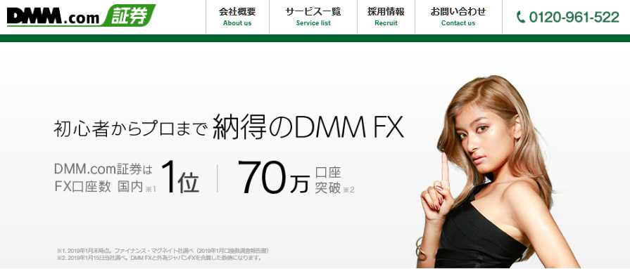 FX口座開設数国内NO.1!DMM.com証券の特徴を解説